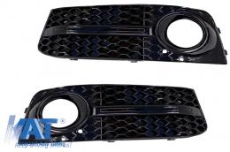 Grile Laterale compatibil cu AUDI A4 (B8, 8K) (2007-2011) RS4 Design Negru - SGAUA4B8RS4B