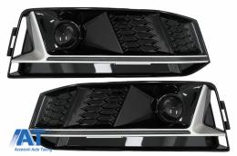 Grile Laterale compatibil cu Audi A4 B9 S-Line Sedan Avant (2016-2018) RS4 Design Silver Edition - SGAUA4B9SS