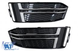 Grile Laterale compatibil cu Audi A4 B9 Sedan Avant (2016-2018) S-Line Silver Edition - SGAUA4B9SOE