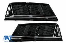 Grile Laterale compatibil cu Audi A4 B9 Sedan Avant (2016-2018) RS4 Design Silver Edition - SGAUA4B9NSWO