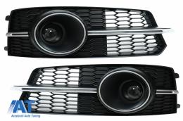Grile Laterale compatibil cu Audi A6 C7 4G S Line Facelift (2015-2018) Crom - SGAUA64GFSWH