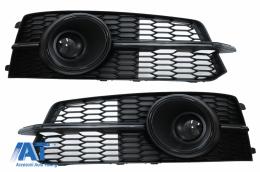 Grile Laterale compatibil cu AUDI A6 C7 4G S Line Facelift (2015-2018) Negru - SGAUA64GFBWH