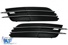 Grile Laterale compatibil cu Audi A6 C7 4G Non-Facelift (2012-2015) Fara ACC - SGAUA64GWO