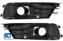 Grile Laterale compatibil cu AUDI A6 C7 4G Facelift (2015-2018) Negru Lucios - SGAUA64GFW12