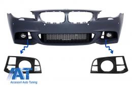 Grile Laterale Ornament Proiectoare BMW Seria 5 F10/F11 LCI Desing compatibil cu bara fata M-Technik Design - SGBMF10LCI