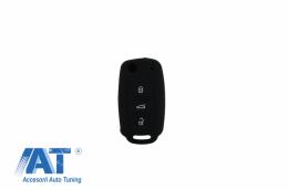 Husa Silicon Cheie Volkswagen - Negru - KCVW01