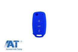 Husa Silicon Cheie Volkswagen - Albastru - KCVW01B