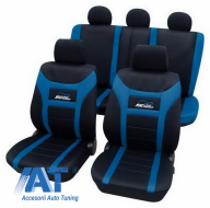 Huse auto universale Eco-Class Super-Speed set complet 11 piese - Albastru - 22974805