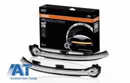 Indicator Dinamic Full LED pentru Oglinda Osram compatibil cu VW Golf 7 VII (08/2012-) VW Touran II (05/2015-) LEDriving Alb - LEDDMI5G0WT