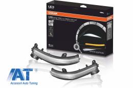 Indicator Dinamic Full LED pentru Oglinda Osram compatibil cu BMW 1 Series F20 F21 2 Series F22 F23 F87 M2 3 Series F30 F31 F34 GT 4 Series F32 F33 F36 X1 E84 Editia Alba - LEDDMIF20WT