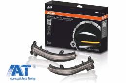 Indicator Dinamic Full LED pentru Oglinda Osram compatibil cu BMW 1 Series F20 F21 2 Series F22 F23 F87 M2 3 Series F30 F31 F34 GT 4 Series F32 F33 F36 X1 E84 Editia Neagra - LEDDMIF20BK