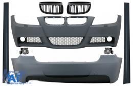 Kit Exterior BMW Seria 3 E90 (2005-2008) M-Technik Design cu Grile M-Design Negru Lucios