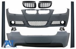 Kit Exterior compatibil cu BMW Seria 3 E90 (2005-2008) M-Technik Design cu Grile M-Design Negru Lucios