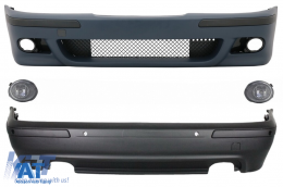 Kit Exterior compatibil cu BMW Seria 5 E39 (1995-2003) cu PDC si Proiectoare Crom - COCBBME39M5DOP