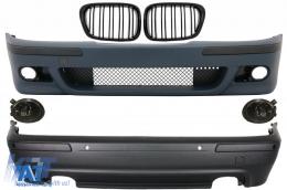 Kit Exterior compatibil cu BMW Seria 5 E39 (1997-2003) Cu Proiectoare Fumurii si Grile Negru Lucioase - COCBBME39M5DOPSG