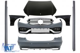 Kit Exterior compatibil cu MERCEDES E-Class W212 Facelift (2013-2016) E63 Design Praguri Laterale - CBMBW212FAMGC