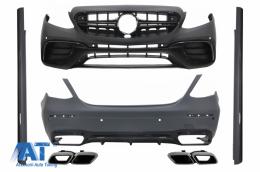 Kit Exterior Complet compatibil cu Mercedes E-Class W213 Design (2016+) cu Ornamente Tobe Crom
