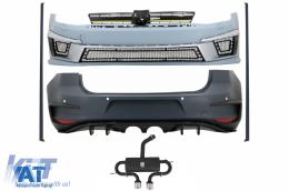 Kit Exterior Complet compatibil cu VW Golf VII 7 (2012-2017) R400 Look cu Sistem de evacuare complet - COCBVWG7R400ESH