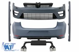 Kit Exterior Complet compatibil cu VW Golf VII 7 (2013-2017) R20 R Look cu Sistem de Evacuare R Look - COCBVWG7R20E