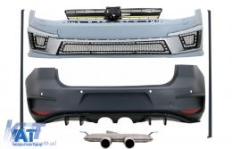 Kit Exterior Complet compatibil cu VW Golf VII 7 (2012-2017) R400 Look cu Sistem Evacuare - COCBVWG7R400ES
