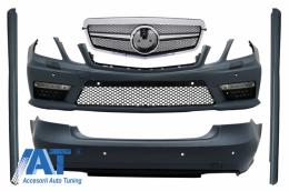 Kit Exterior Complet cu Grila Centrala Crom compatibil cu MERCEDES E-Class W212 (2009-2013) E36 Design - COCBMBW212AMGFC
