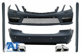 Kit Exterior Complet cu Ornamente Evacuare compatibil cu MERCEDES E-Class W212 (2009-2013) Pachet A-Design
