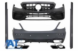 Kit Exterior Complet cu Ornamente tobe compatibil cu MERCEDES E-Class W213 E63 Design 2016+ - COCBMBW213AMGCBWOL