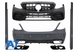 Kit Exterior Complet cu Ornamente tobe compatibil cu MERCEDES E-Class W213 E63 Design 2016+ - COCBMBW213AMGCBBWOL
