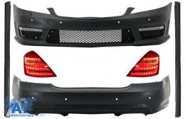 Kit Exterior Complet cu Stopuri LED Facelift compatibil cu MERCEDES S-Class W221 (2005-2012) LWB - COCBMBW221AMGT