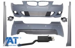 Kit Exterior cu Sistem Complet de Evacuare compatibil cu BMW Seria 5 E60 (2007-2010) M-Technik Design PDC 18mm - COCBBME60MTPDC18SO