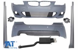 Kit Exterior Sistem complet de Evacuare compatibil cu BMW Seria 5 E60 (2003-2007) M-Technik Design PDC 24mm - COCBBME60MTPDC24SO
