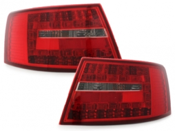 LED taillights suitable for AUDI A6 4F Limousine 04-08 _ red/clear - RA19ELRCA