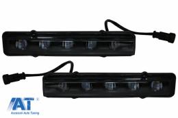 Lumini de zi dedicate LED DRL Mercedes G-class W463 (1989-2012) G65 Design Negru - DRLMBW463B