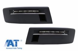 Lumini de zi LED (DRL) compatibil cu VW Transporter Multivan Caravelle T5.1 Facelift (2010-2015) - DRLVWT5
