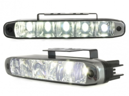 Lumini de zi TFL cu 5 hipower LED LxHxT 160x24x54mm negru - LGX07B