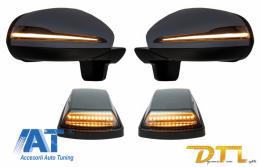 Oglinzi Complete cu Lampi Semnalizare LED compatibil cu MERCEDES G-Class W463 (1989-2017) 2018 Facelift Design Semnal Dinamic - COCMAMBW463NLMS