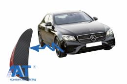 Ornamente bara fata flapsuri compatibil cu Mercedes W213 S213 C238 A238 E43 E53 Design Carbon Film - FFOCF