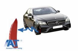 Ornamente bara fata flapsuri compatibil cu Mercedes E-Class W213 S213 C238 A238 E43 E53 Design Red Edition - FFOR