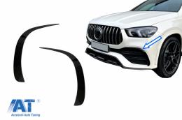 Ornamente bara fata flapsuri compatibil cu Mercedes GLE W167 GLE Coupe C167 (2019-up) doar pentru AMG Sport Line Negru Lucios - FFOBGLEW167