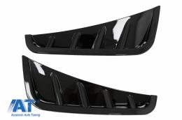 Ornamente bara fata flapsuri Negru Lucios compatibil cu Mercedes C-Class W205 S205 Facelift (2018-2020) Sedan T-Model - FFOBW205F