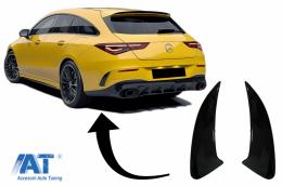 Ornamente Bara Spate Flapsuri compatibil cu Mercedes CLA Shooting Brake X118 CLA Coupe C118 (2019-up) Negru Lucios 45S Design