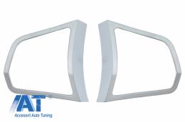 Ornamente Cromate Butoane Volan compatibile cu BMW Seria 5 F10/F11 (2010-2017) - C00367K