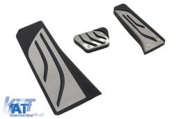 Ornamente Pedale compatibil cu BMW Seria 5 F10, Seria 6 F13, X3 F25, X4 F26 Automatic - KPBM03