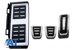 Ornamente Pedale compatibil cu VW compatibil cu VW Golf 7, Passat B8 Facelift, Tiguan 2016, Touran 2016, Audi A1 8x, A3 8V, TT 8s, Q2, Seat Leon 3 5F Manual - KPVW04