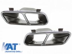 Ornamente pentru sistemul de evacuare compatibil cu Mercedes A-Class W176 (2012-2018) CLA W117 C117 (2012-2018) A45 CLA45 Design - TY-W176-A45