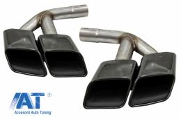 Ornamente toba compatibil cu AUDI Q7 4M (2015-2019) SQ7 Design Negru doar pentru Benzina - TY-SQ74MB
