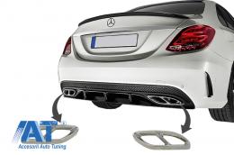 Ornamente tobe compatibil cu sistemul de evacuare Mercedes C-Class W205 S65 E65 GLE W166 X166 GLC W253 Design - MTMBAMG
