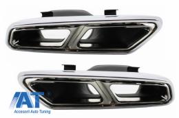 Ornamente tobe compatibil cu sistemul de evacuare Mercedes Benz S-Class W222 E-Class W212 S212 Facelift CLS W218 SL-Class R231 E65 S65 SL65 A-Design - TY-S65-W222WOL