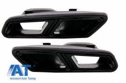 Ornamente tobe compatibil cu sistemul de evacuare Mercedes Benz S-Class W222 E-Class W212 Facelift CLS W218 SL-Class R231 E63 S65 A-Design Black Exclusive Editon - TY-S65-W222B