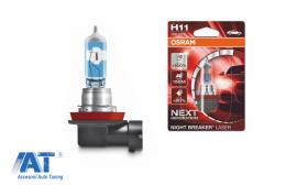 OSRAM Night Breaker Laser Next Gen Bec Auto Halogen H11 64211NL-01B 12V 55W (1 bucata) - 64211NL-01B